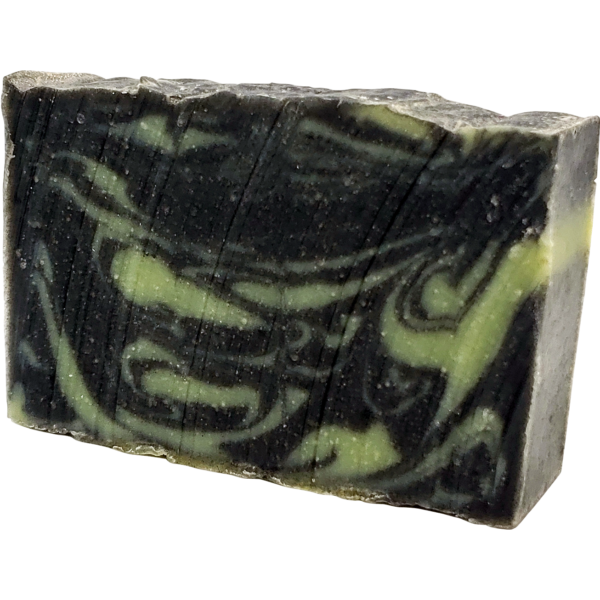 reLeaves Once You Go Black Bamboo Activated Charcoal Spearmint & Lemongrass 25mg CBD Bar Soap