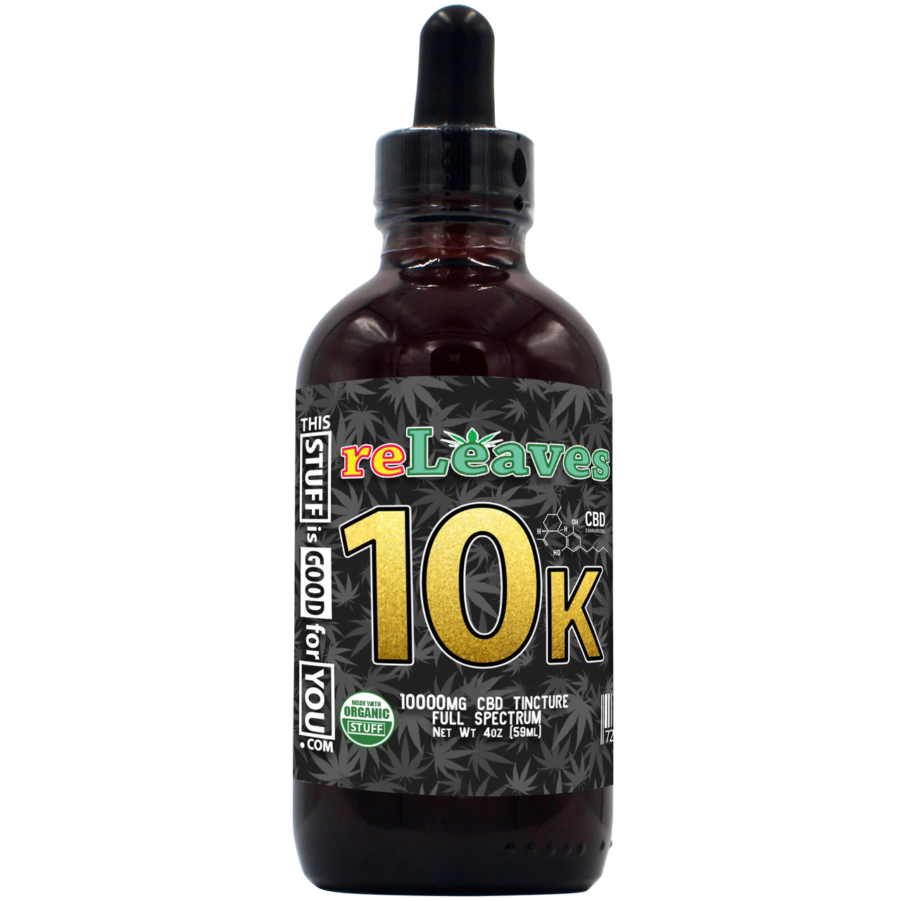4oz reLeaves 10000mg CBD Full Spectrum Tincture