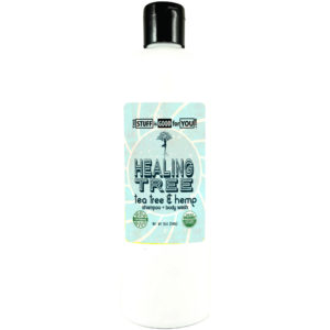 12oz Healing Tree Organic Medicated Tea Tree Hemp Shampoo Body Wash