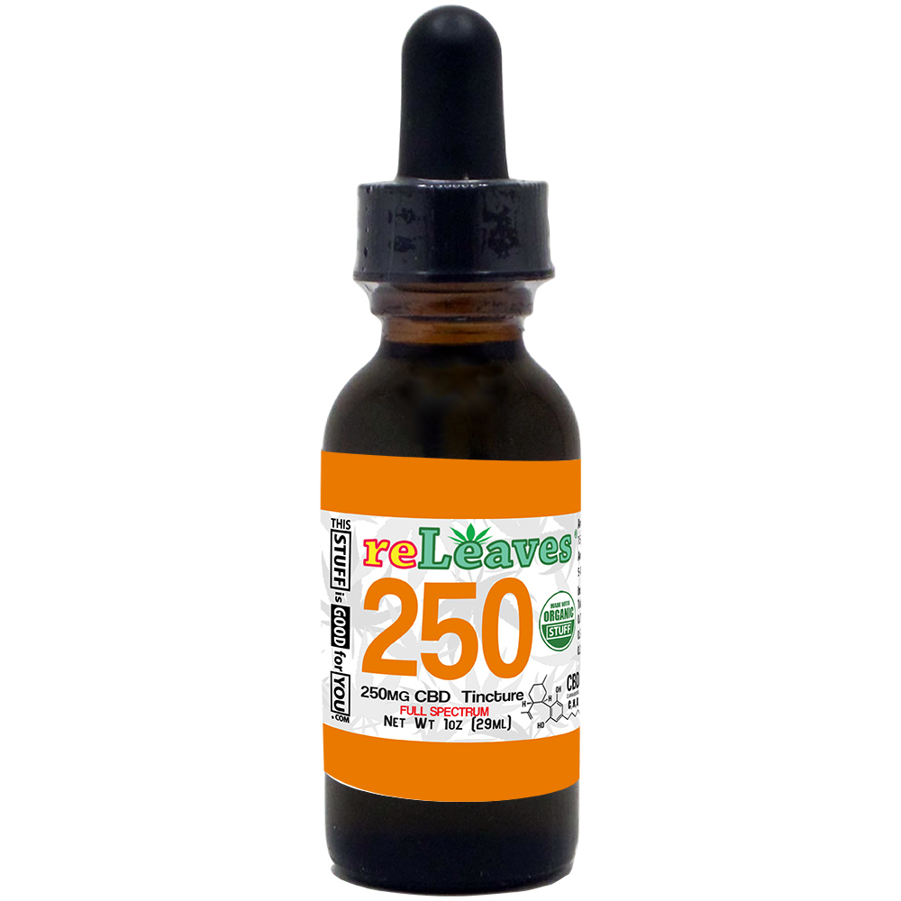 1oz reLeaves 250mg CBD Full Spectrum Tincture