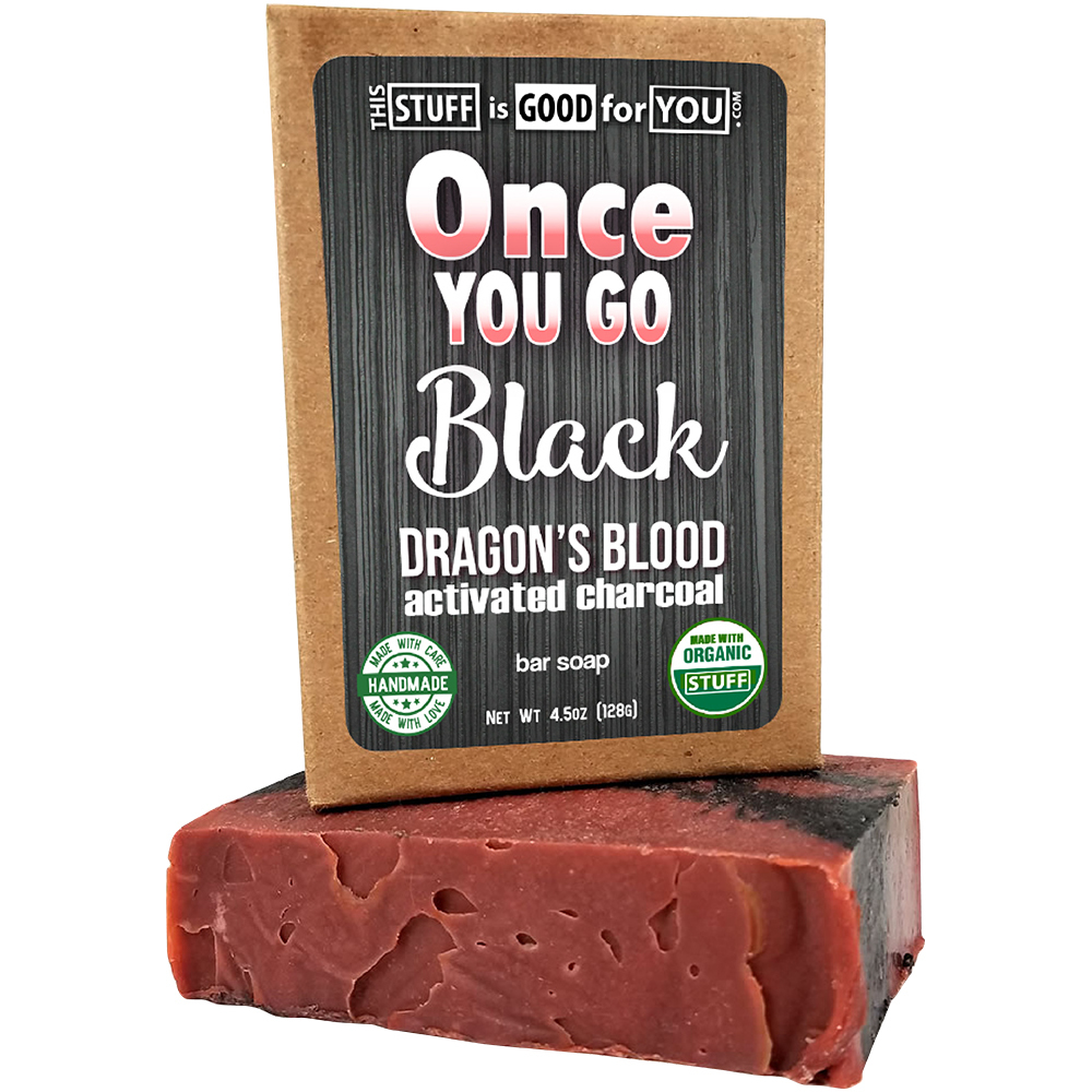 Once You Go Black Dragon's Blood Bar Activated Charcoal Soap