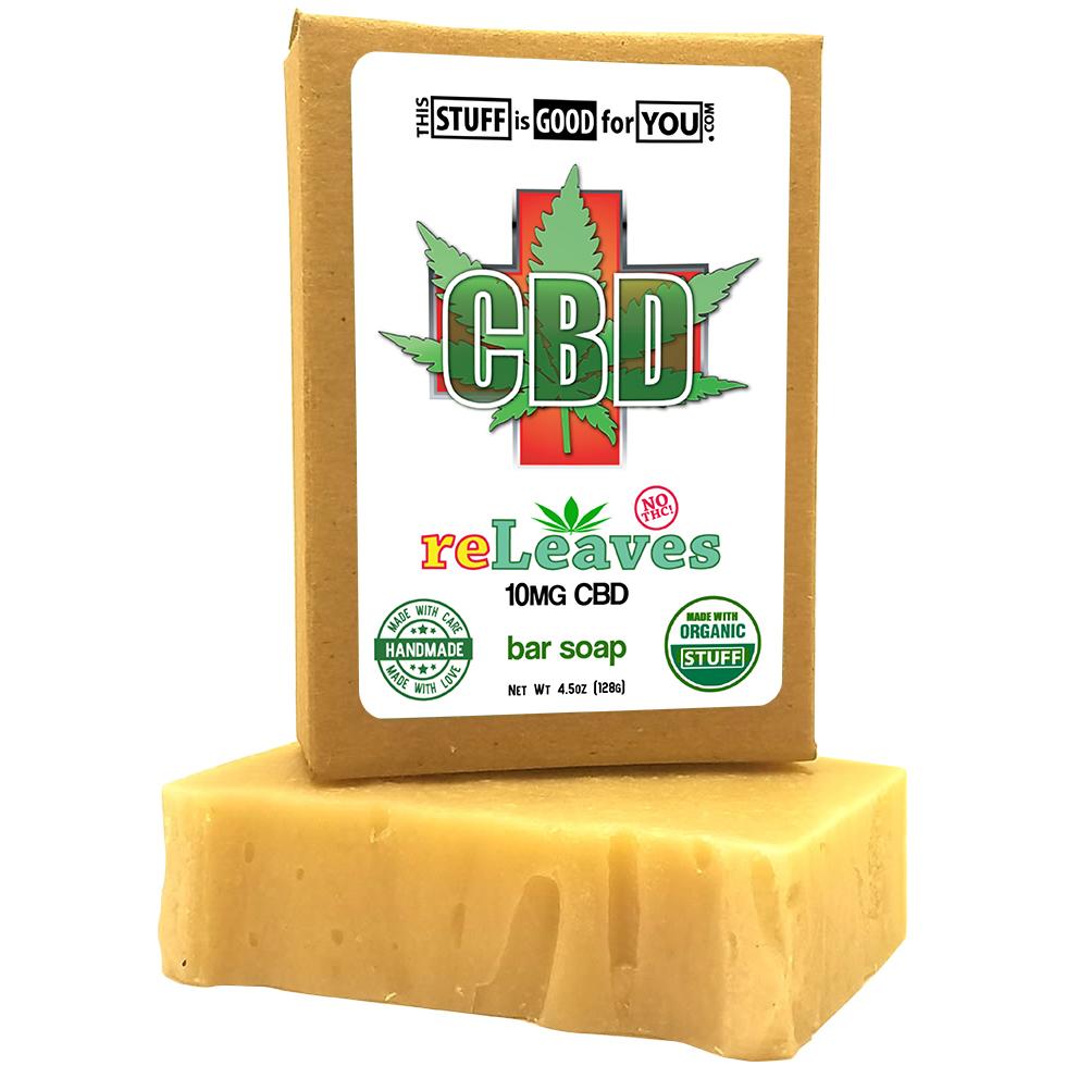 reLeaves 25mg CBD Bar Soap