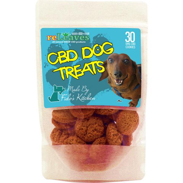 reLeaves 150mg Full-Spectrum CBD Dried Dog Treat Cookies (30x5mg)