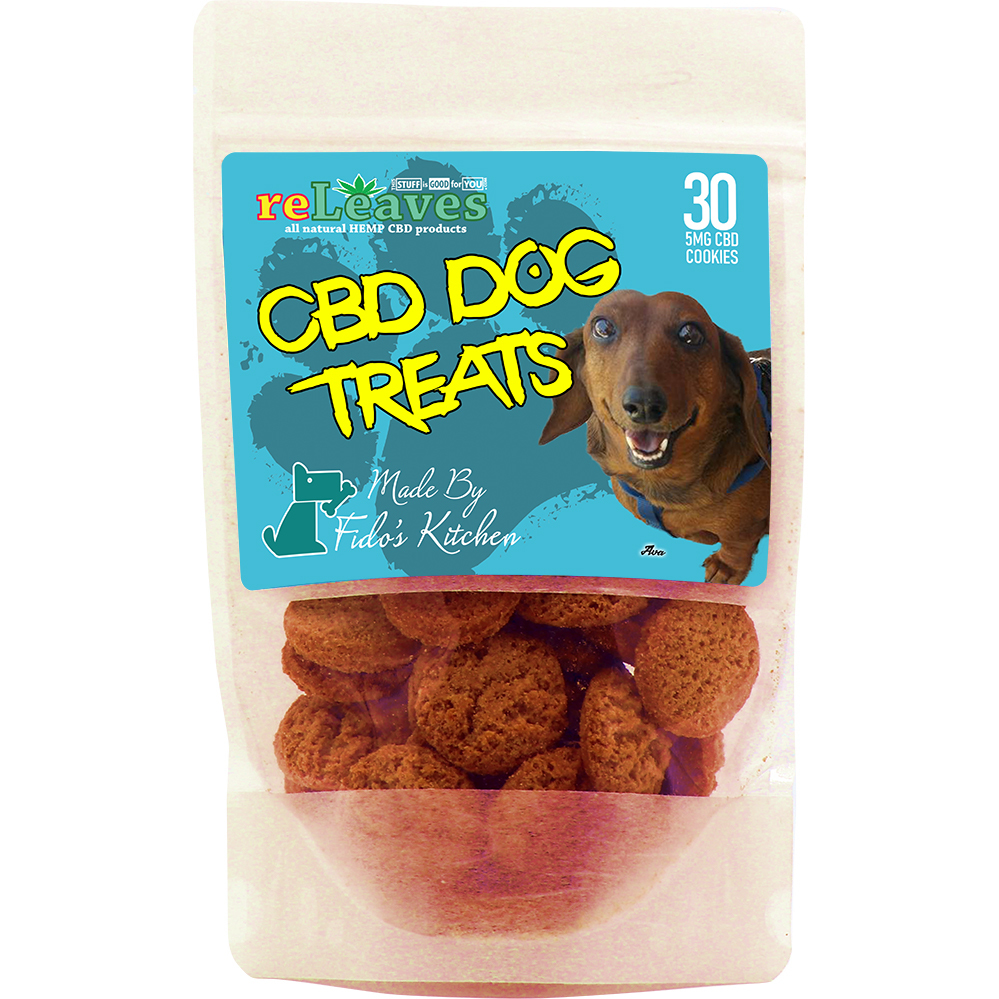 reLeaves 150mg Full-Spectrum CBD Dried Dog Treat Cookies (30x5mg)
