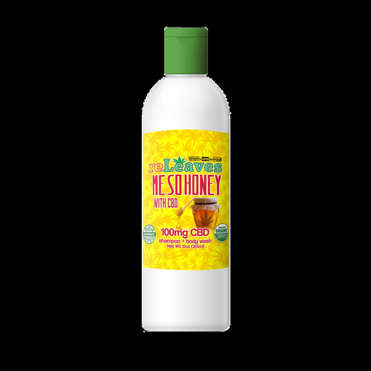 12oz reLeaves 100mg CBD Me So Honey Shampoo Body Wash