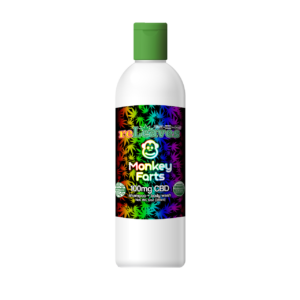 12oz reLeaves 100mg CBD Monkey Farts Shampoo Body Wash