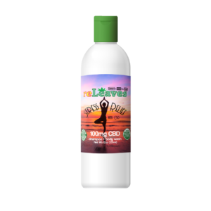 12oz reLeaves 100mg CBD Stress Relief Shampoo Body Wash
