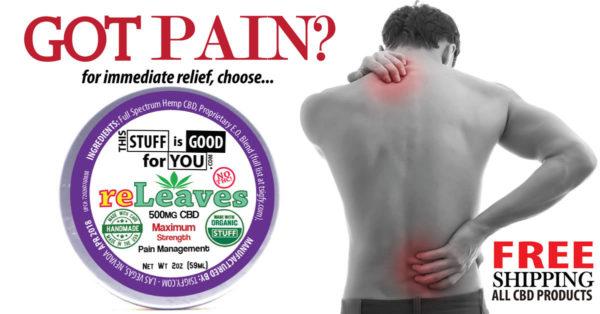2oz reLeaves 500mg CBD Maximum Strength Pain Management