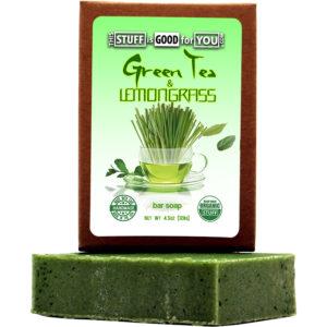 Green Tea Lemongrass Bar Soap