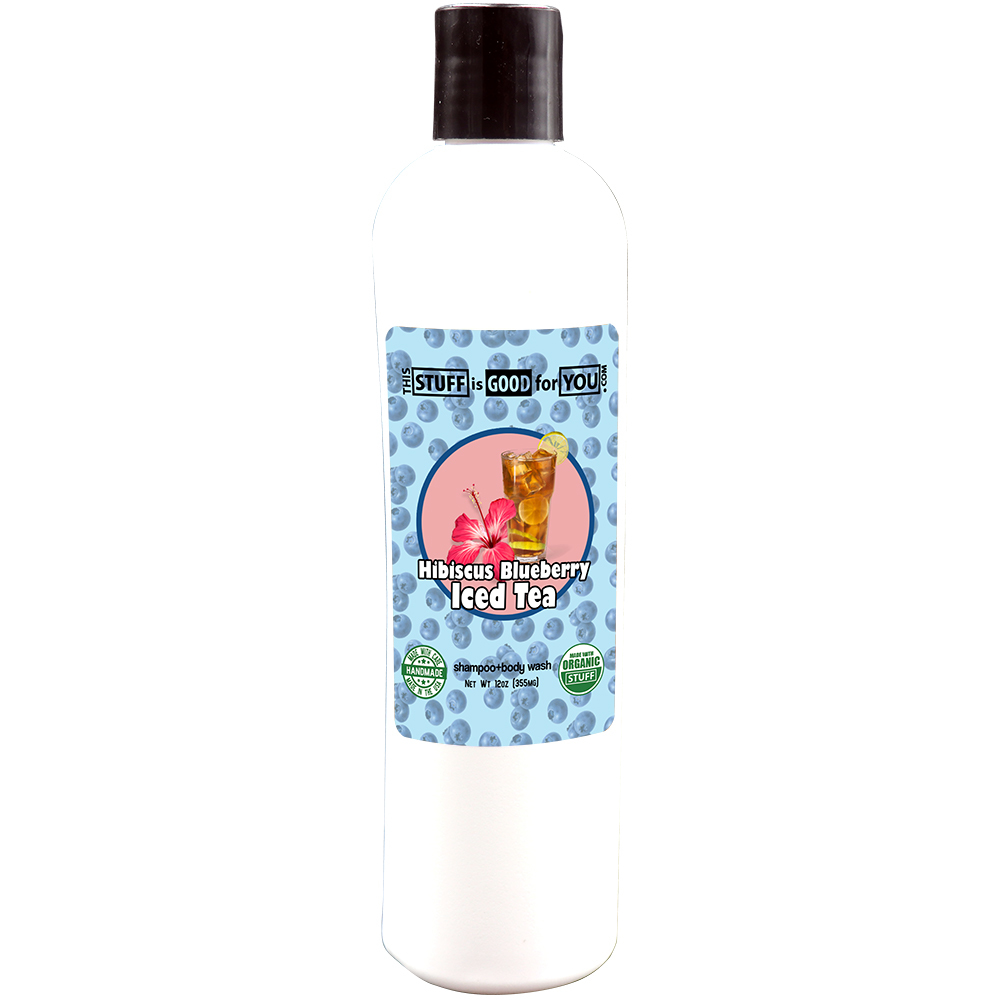 12oz Hibiscus Blueberry Iced Tea Shampoo Body Wash