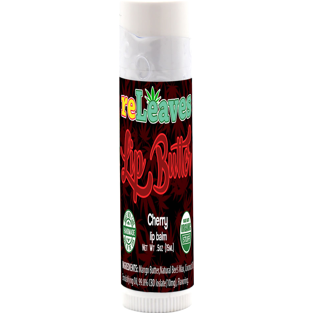 reLeaves Lip Buttah Cherry CBD Lip Balm