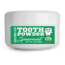 2.5oz Fluoride-Free Spearmint Tooth Powder