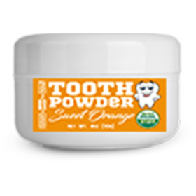 2.5oz  Fluoride-Free Sweet Orange Tooth Powder
